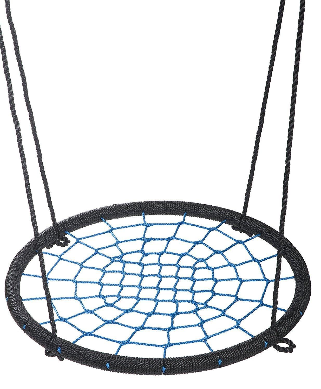 femor Blue Tree Net Swing- Children's Playground Outdoor 24'' Diameter Spider Web Swing- Easy Installation