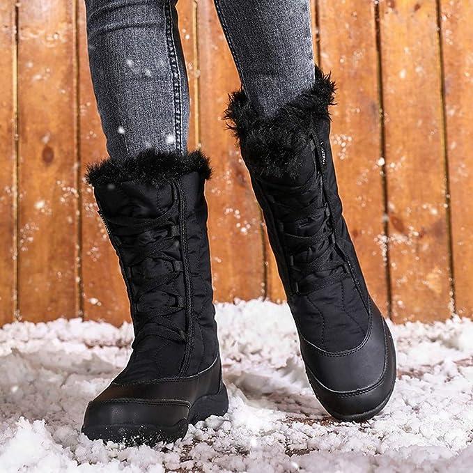 JINLO Nuevas Botas térmicas de Invierno de Moda para Mujer