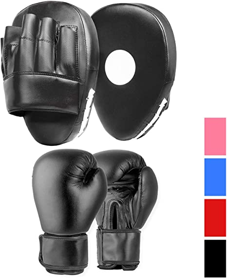 MMA Focus Pad,Hook Jab Mitts,Boxing Punch Gloves MMA War Strike,Skipping Rope