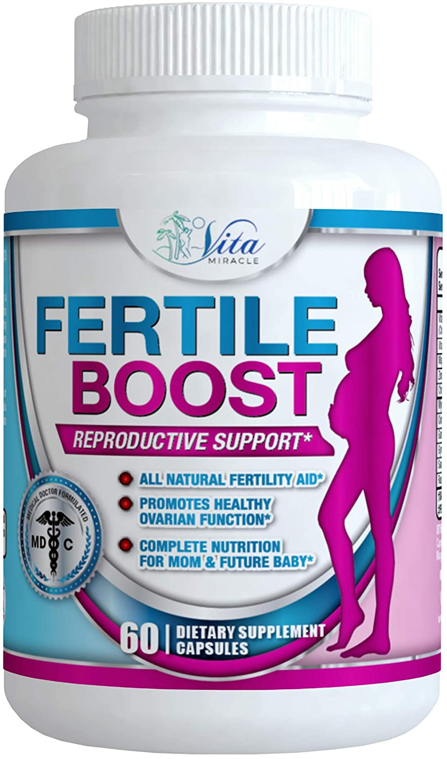 Dr Formulated Fertility Supplements for Women - with Myo Inositol Pre Pregnancy Fertility Pills PCOS Supplement Aid Ovulation and Regulate Cycle to Help Conception and Get Pregnant Fast