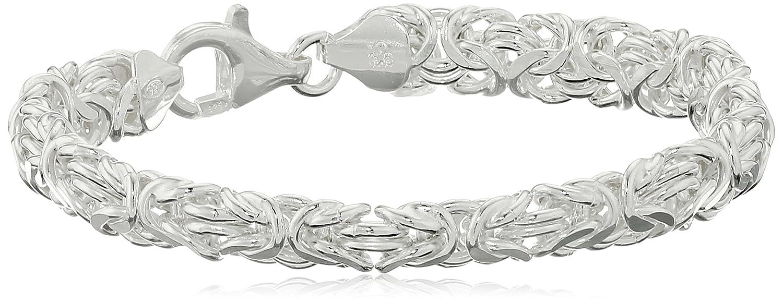 Sterling Silver Byzantine Link Bracelet, 7.5
