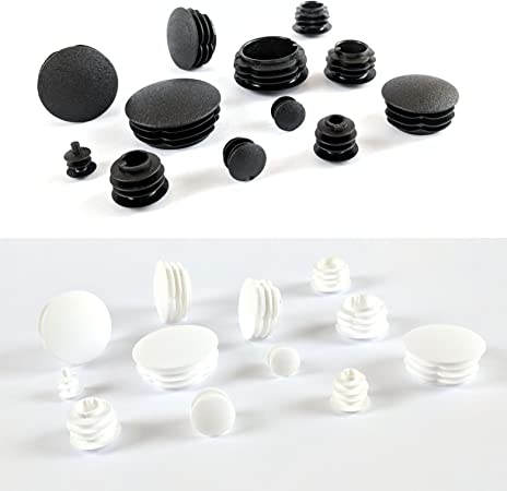12mm Diameter Black Made in Germany Round Tube Insert Plugs Pipe Blanking End Edge Caps with Domed Head Keay Vital Parts Please See 2nd Image for Dimensions Pack of 100