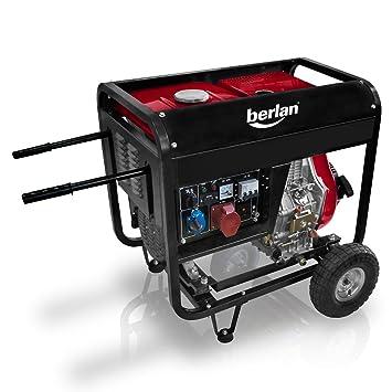 Berlan 4,5 KW Diesel Stromerzeuger 230 x 400 Volt: Amazon.de: Baumarkt
