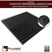 Pro-Coustix UFWG24 Ultraflex Wedge Akoestisch Schuim Tegels, Authentiek, 24 Panelen, Studio Gray