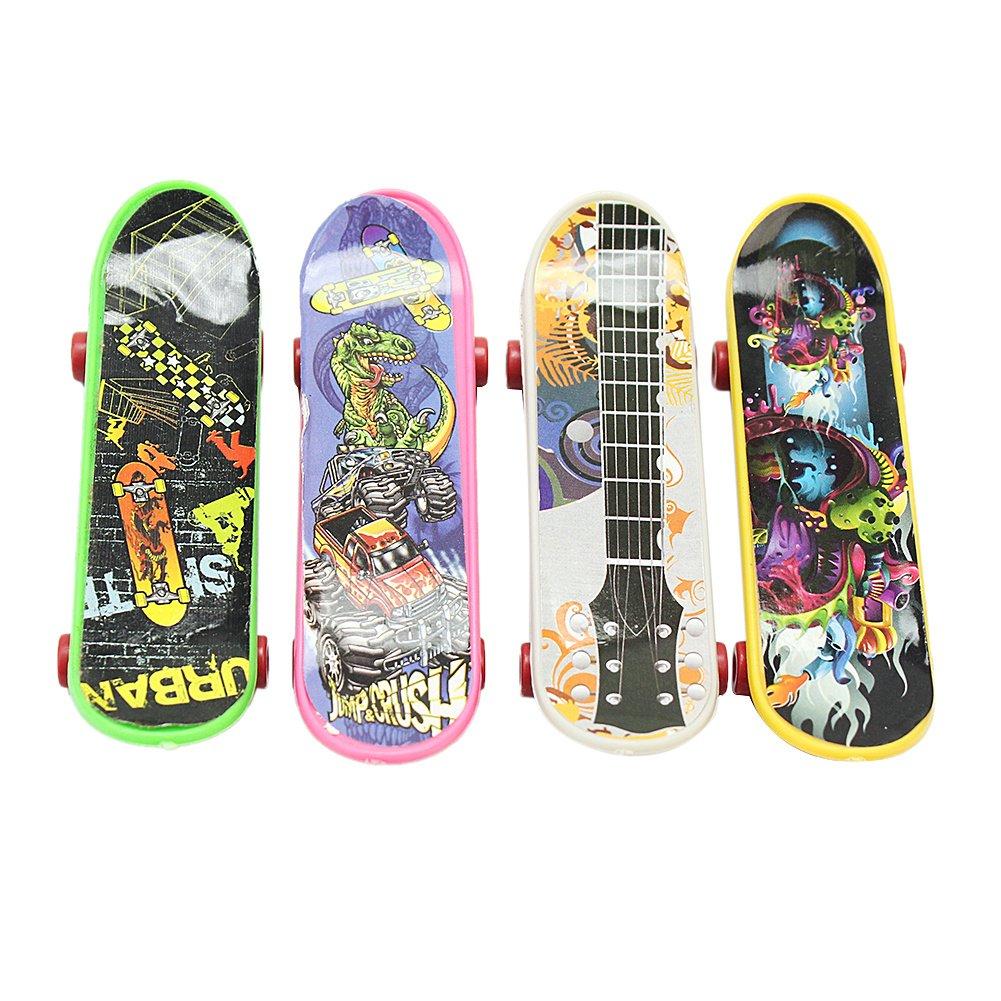 4 Pcs New Fashion Plastic Finger Skateboard Chirdren Kids Toys Birthday Gift ReFaXi
