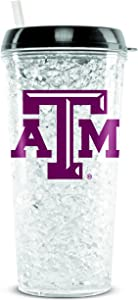 NCAA Texas A & M Aggies 16oz Crystal Freezer Tumbler with Lid and Straw