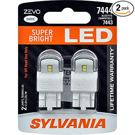 Amazon.com: SYLVANIA - 7444 T20 ZEVO LED Amber Bulb - Bright LED Bulb, Ideal for Park and Turn Lights (Contains 2 Bulbs): Automotive
