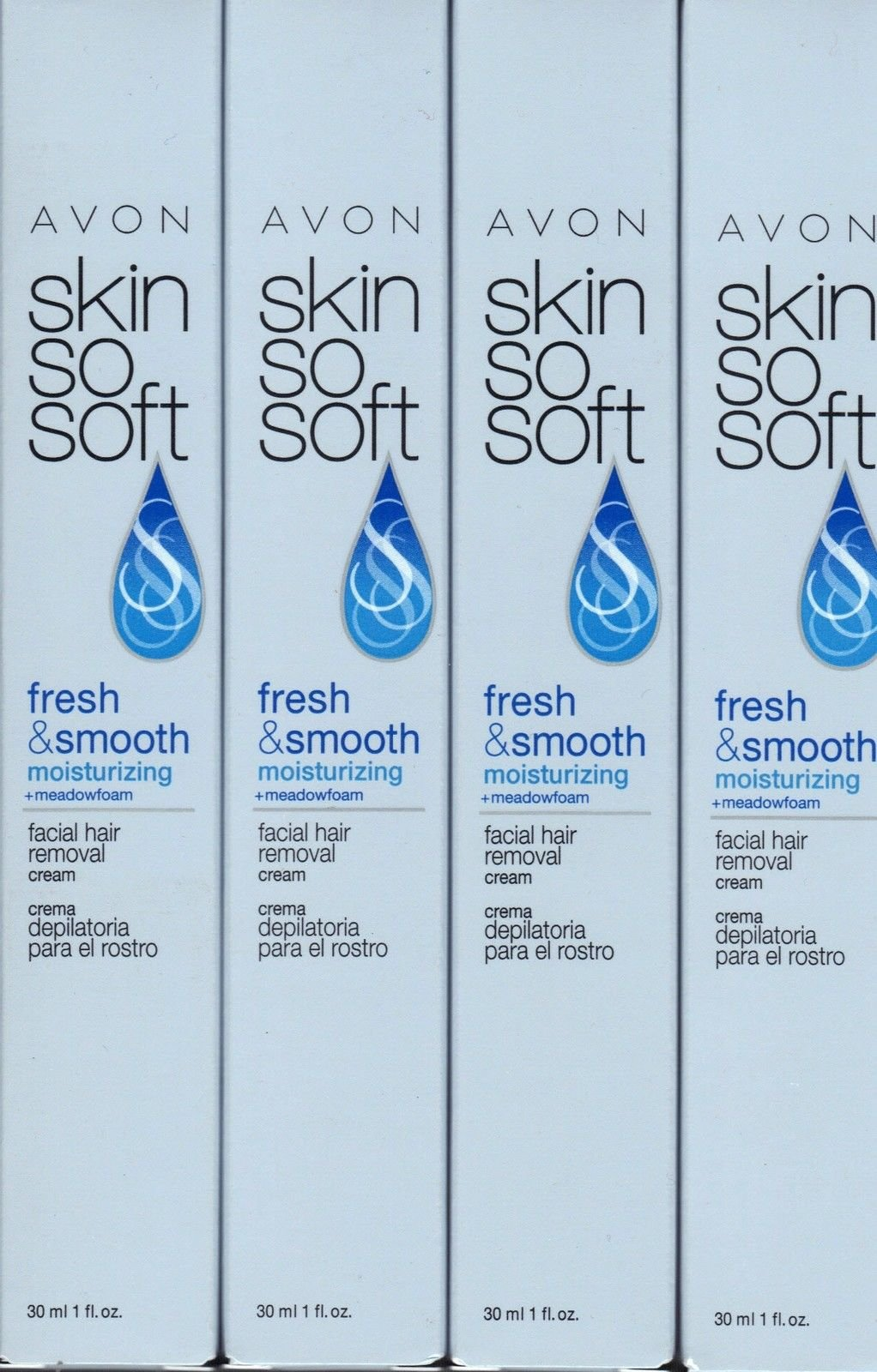 Avon Skin So Soft Facial Hair Removal Cream Lot of 4 by Avon face hair removal cream (Image #1)