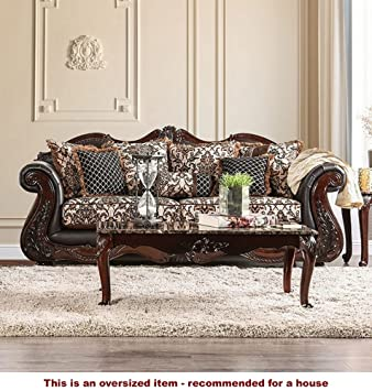 Jamael Brown Chenille Sofa (Oversized) By Furniture Of America
