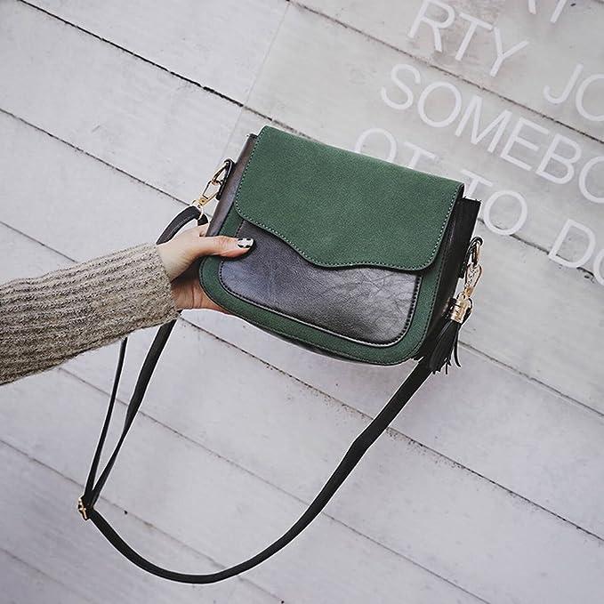 Sacs à Main Féminins Givrés de Mode Frangé Messenger Bag Sac à Bandoulière Rétro Messenger , noir