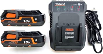 LITHIUM ION DUAL CHEMISTRY BATTERY CHARGER RIDGID R86092-18V 18 VOLT