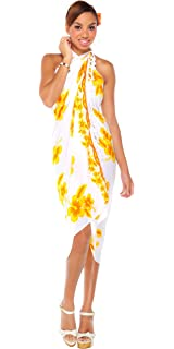 452c1ac9bb018 1 World Sarongs Womens Hibiscus Flower Swimsuit Sarong in Your Choice of  Color