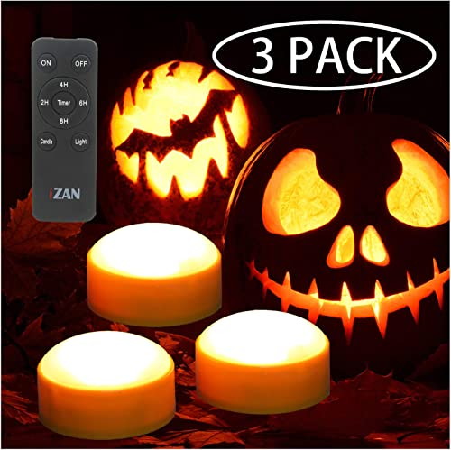 3 Pack Battery Operated LED Pumpkin Light