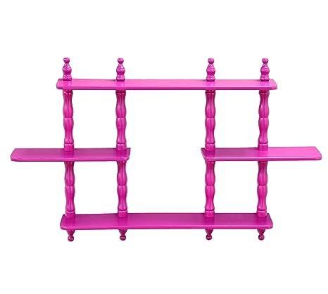 amazon com frenchi home furnishing kid s 3 tier wall shelves rh amazon com 3 tier wall shelves 2 tier wall shelves