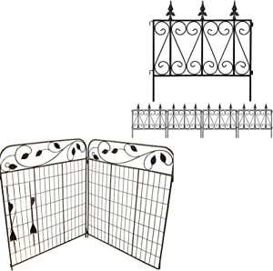 Amagabeli Garden Fence 24inx10ft Bundle Garden Fence Border 44inx6ft