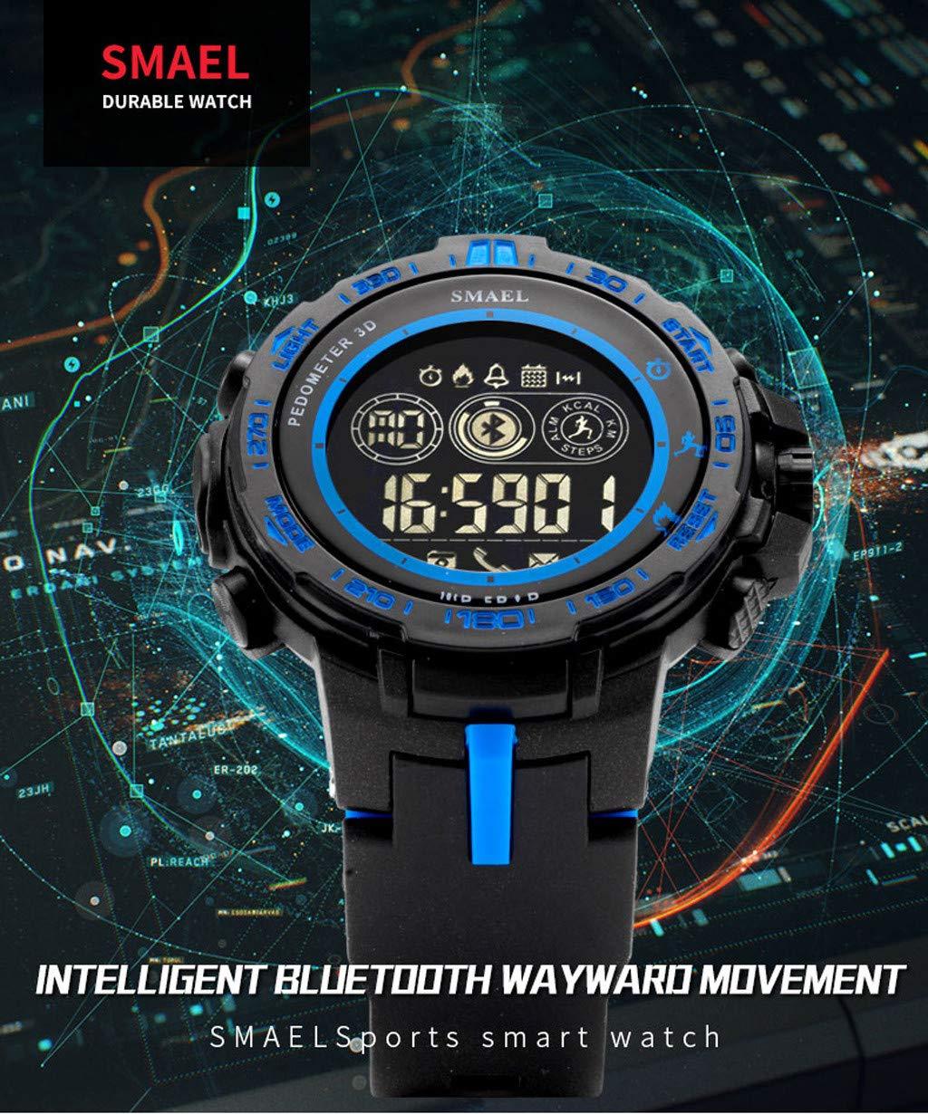 Guartz Watches for Men Digital Under 10 Dollars ❤ SMAEL Bluetooth Smart Sport Men's Watch Style Clock Call Calorie Digital Watches
