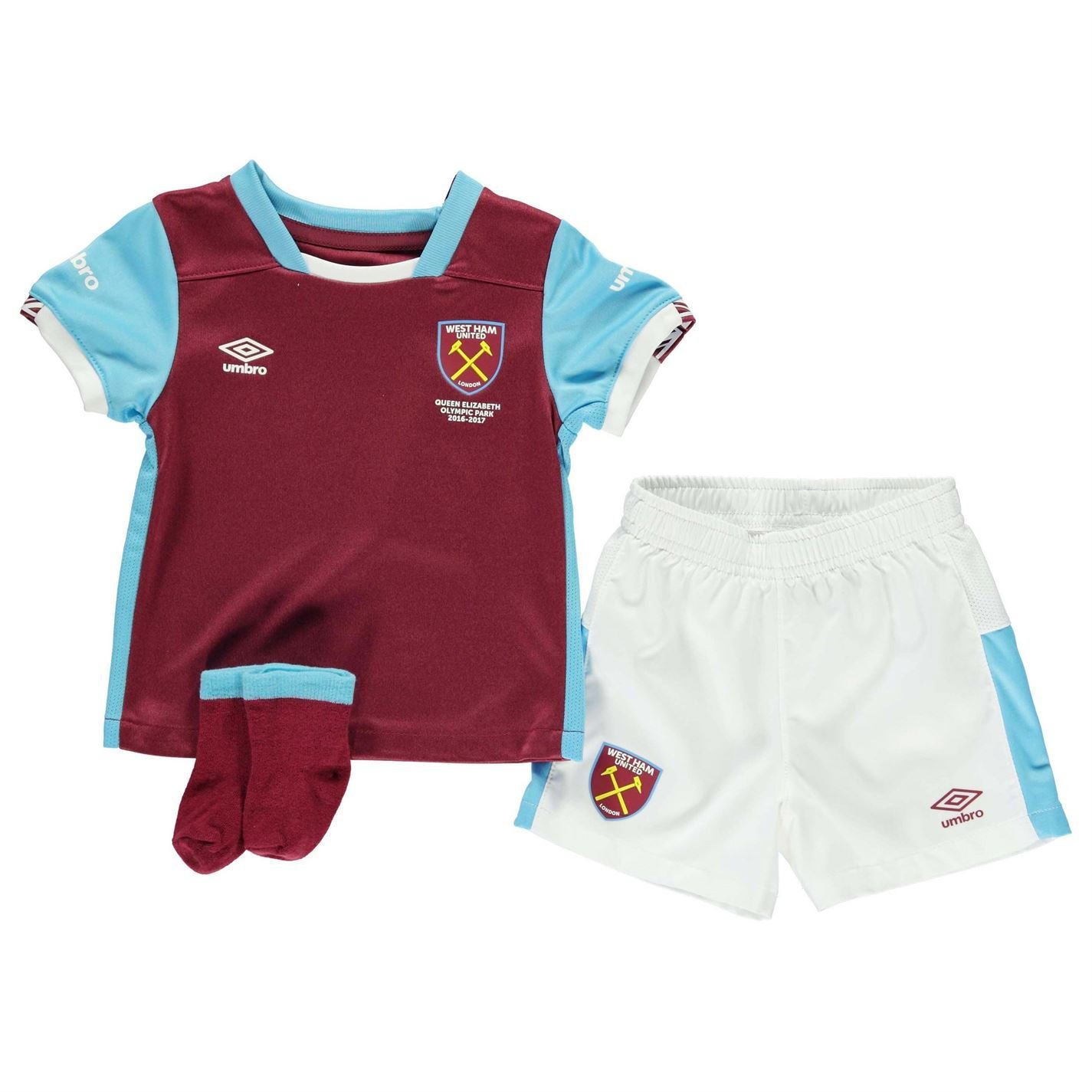 West Ham United Home Infant Kit 2018 19 /& Baby Umbro Football
