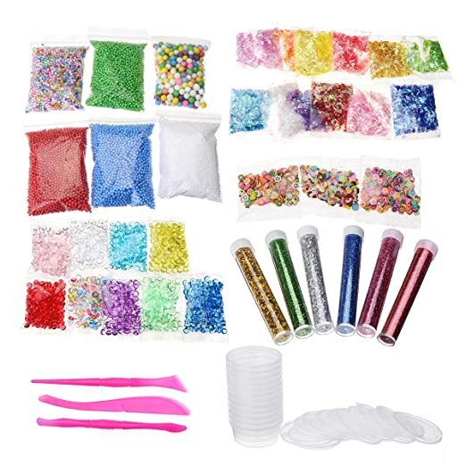 CCChaRLes 52 Pack Slime Diy Charms Supplies Kit Bolas De Bolas ...