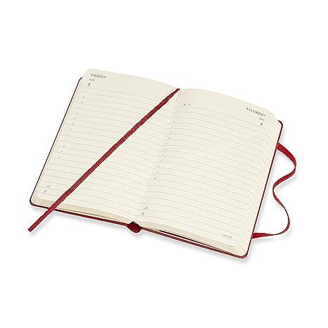 Moleskine - Agenda Diaria de 12 Meses 2020, Tapa Dura y Goma Elástica, Tamaño Pequeño 9 x 14 cm, 400 Páginas, Rojo Escarlata