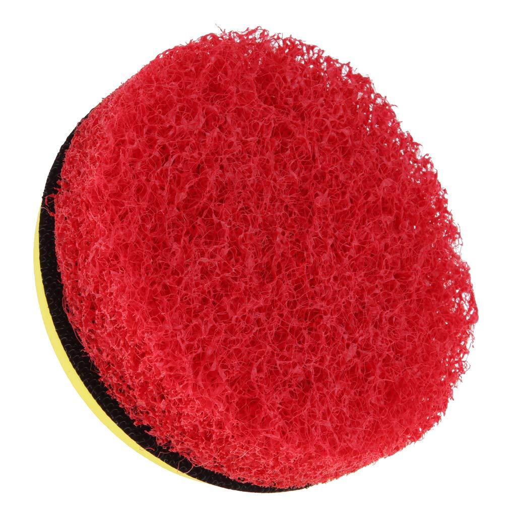 as described perfeclan 2Pcs Power Scrub Brush Drill Cleaning Brush for Bathroom Shower Brush Kit White