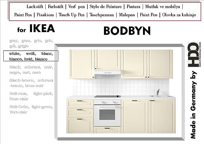 Lackstift Farbstift Touch-Up-Pen for IKEA Bodbyn white: Amazon.de ...
