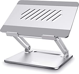 Laptop Stand, Muti-Angle Portable Foldable Adjustable Laptop Stand with Heat-Vent, Ergonomic Computer Stand Riser for Desk Compatible with MacBook, Air, Pro, Dell, Surface Laptop (10-15.6