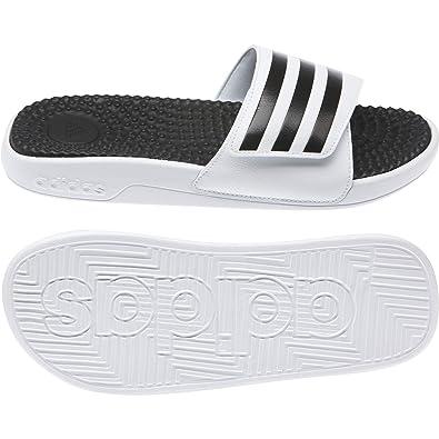 1cbf30fd53f adidas Unisexe Adissage Tnd Tongs - Footwear Coeur Blanc Black-Footwear  Blanc (F35563)