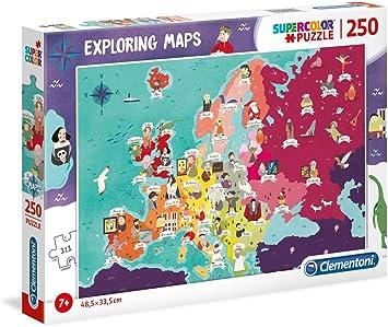 Clementoni- Puzzle Mapa 250 Piezas Europa - Gente (29061.1): Amazon.es: Juguetes y juegos