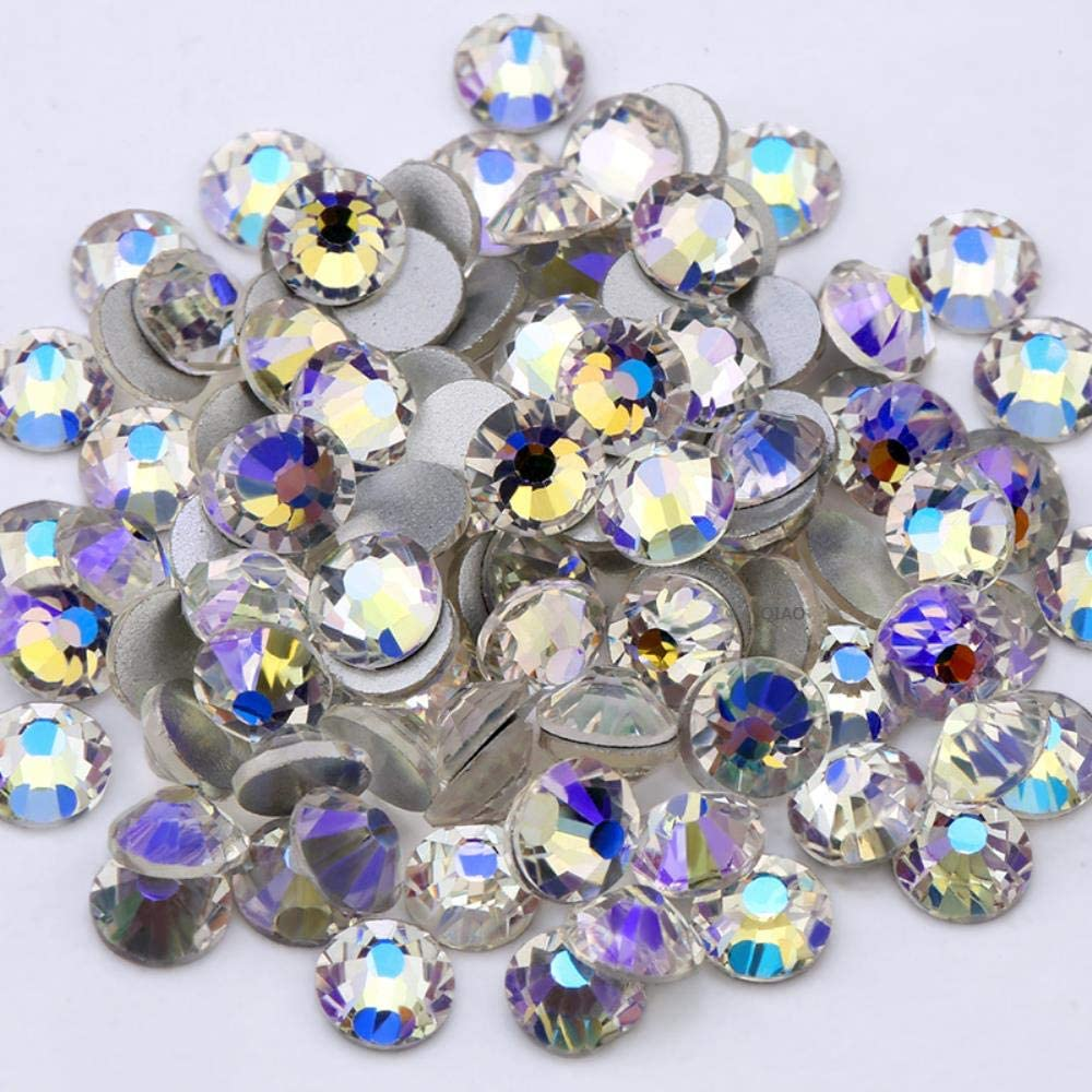 PENVEAT Moonlight Purple SS3-SS20 Glass Rhinestone Flatback DIY Nail Deco Beads No Usar Pegamento 1440pcs Wedding Deco, SS10-1440pcs