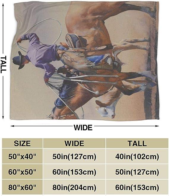 NOLOVVHA Manta de Cama,Western Cowboy cabalgando hacia el ...