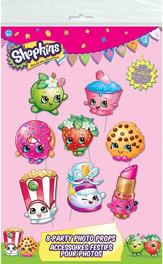Shopkins Party Supplies Shopkins Gift Idea Shopkins Birthday Party Shopkins Photo Booth Props Shopkins Photo Booth Set