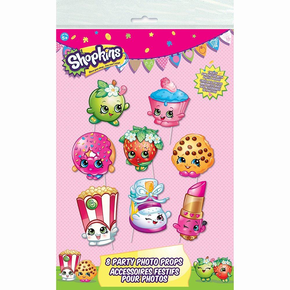 5pc Unique Party Favors 43087 Shopkins Balloon Bouquet Kit