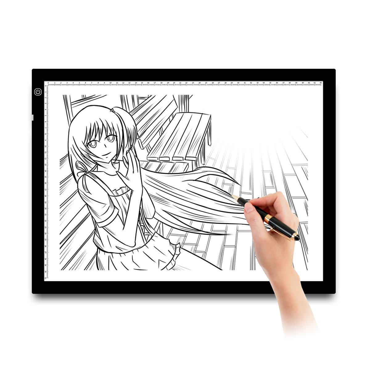 XtremPro A3 LED Tracing Light Pad/Light Box, 21'', 8mm Thin, Dimmable Brightness Artist, Tattoo, Drawing Drafting for Animation, Sketching, Designing, Stenciling, Drawing, Stenciling X-ray Viewing by XtremPro