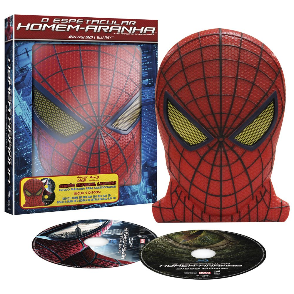 Amazon.com: Blu-ray 3D O Espetacular Homem Aranha [ The Amazing Spider-Man Gift Set ] + Mask [ Region ALL ] [ Audio and Subtitles in English + Spanish + ...