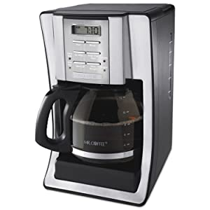 Mr. Coffee SJX39 12-Cup Programmable Coffeemaker, Chrome