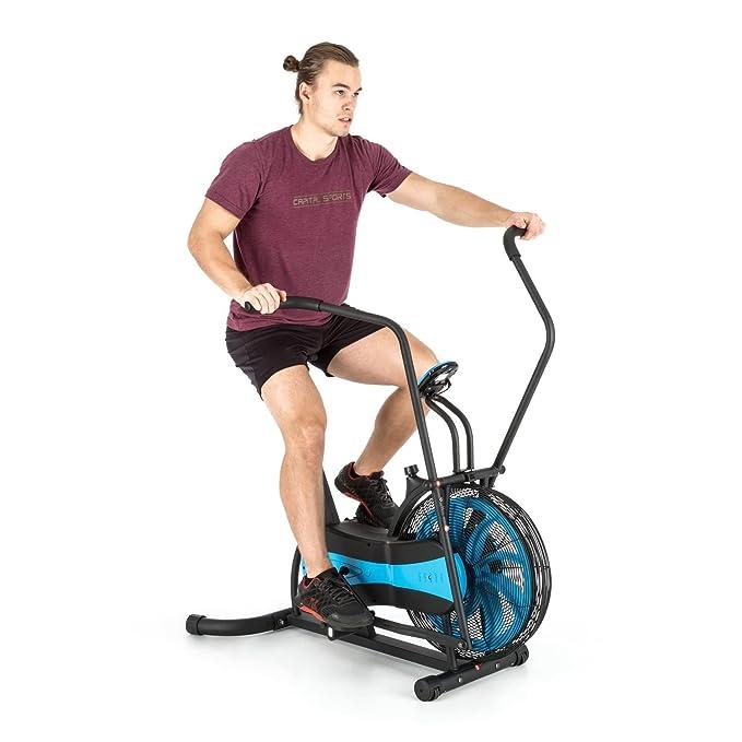 CAPITAL SPORTS Stormstrike 2k Bicicleta elíptica ergómetro (Resistencia regulación contínua, entrenamiento brazos y piernas, monitor integrado, ...