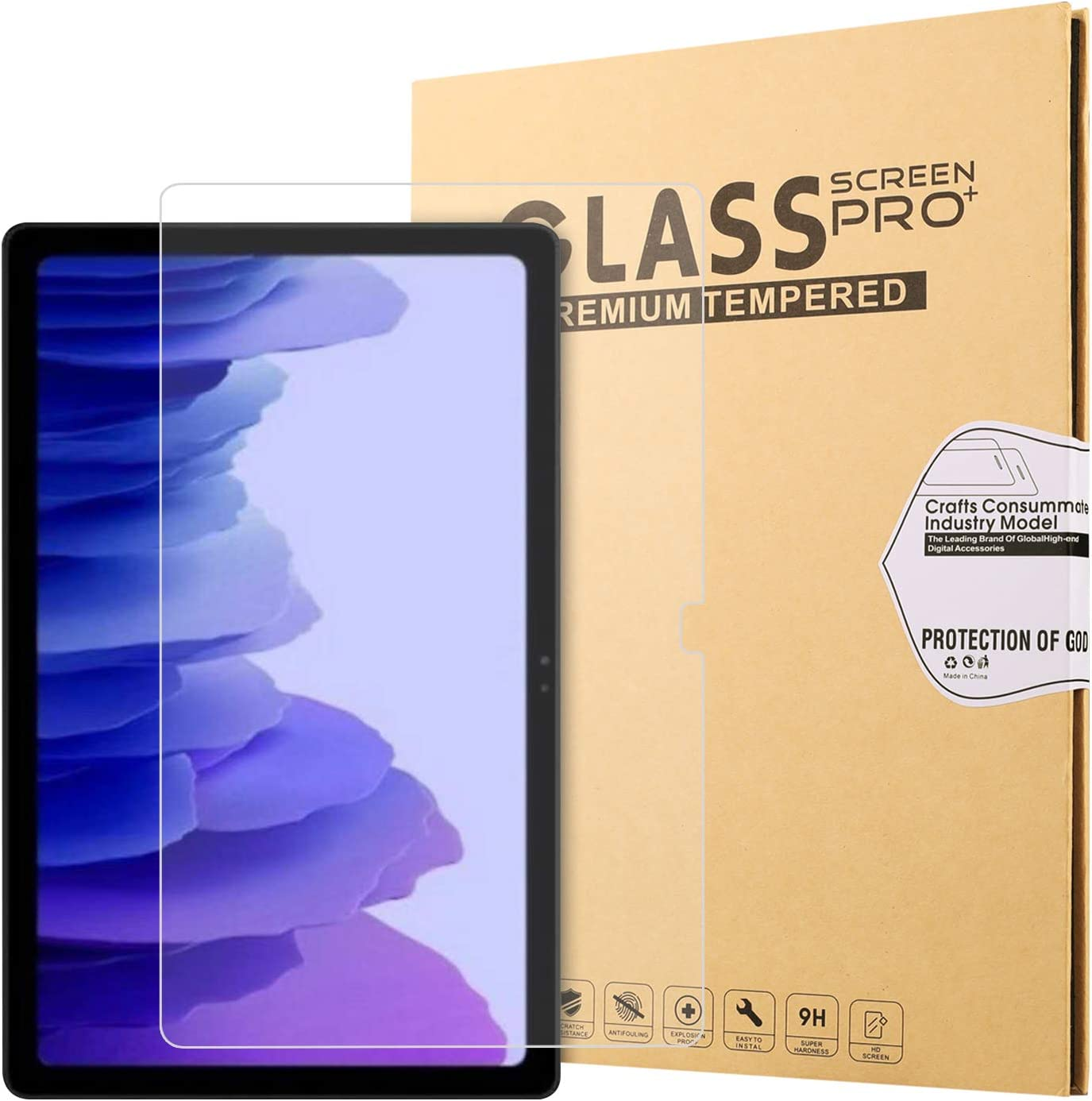 Ratesell Samsung Galaxy Tab S7 Screen Protector, Tempered Glass Screen Protector, 9H Hardness/Bubble Free/High Response for Samsung Galaxy Tab S7 Tablet