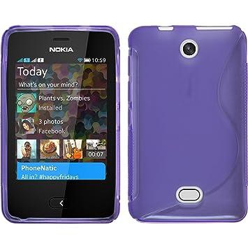 cheaper 2f767 0fc18 Amazon.com: PhoneNatic Silicone Case for Nokia Asha 501 S-Style ...