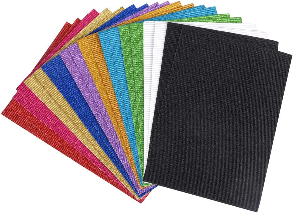 Apli 13826 Pack de 10 Feuilles A4 Papier Ondul/é