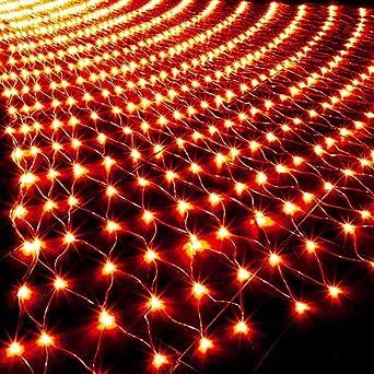 GNBHCP Luz de Navidad Cadena Luces LED Al Aire Libre, Jardín Luces, Navidad, Boda, Del Dormitorio Del Hogar Iluminación 3mx2m Decoración Luz De Navidad Roja (Color : Red-3mx2m): Amazon.es: Iluminación