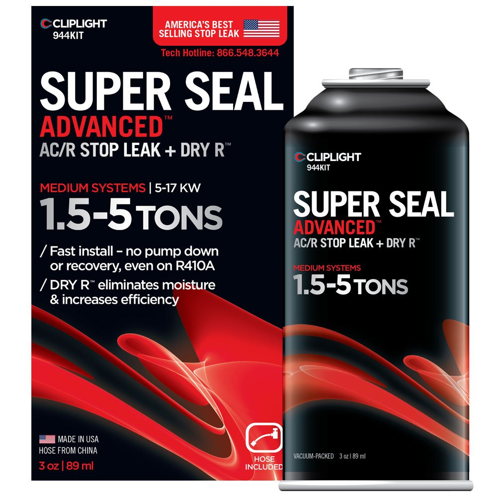 Cliplight Super Seal Advanced 944KIT - Permanently Seals & Prevents Leaks in A/C & Refrigeration Systems - 1.5-5 TONS by Cliplight (Image #2)