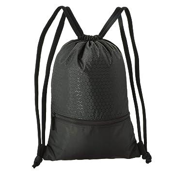 WinCret Sackpack para Hombres Mujeres Niños - Impermeable Mochila Drawstring Gymsack con Gran Bolsillo de Cremallera