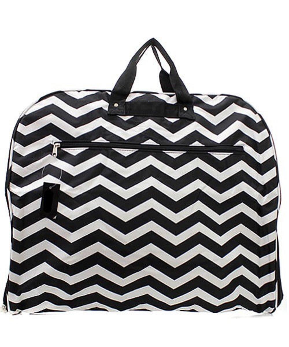 Chevron Stripe Garment Bag (BLACK)