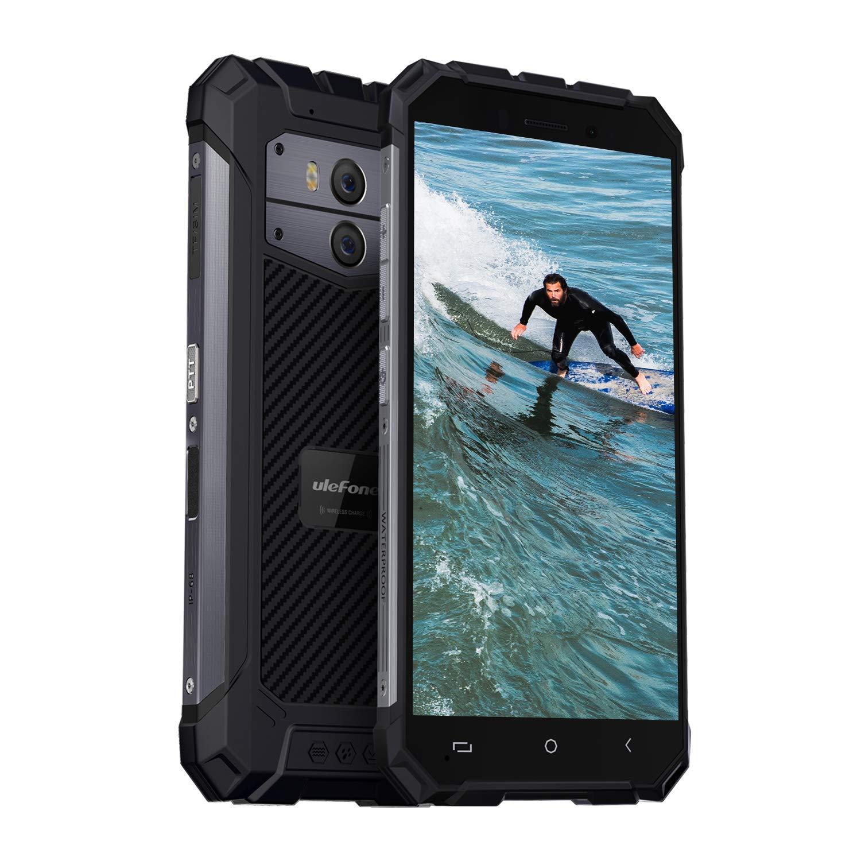 Ulefone Armor X IP68 Smartphone Libre 4G Resistente, Android 8.1, Batería Grande 5500mAh, Pantalla Completa 5.5 Pulgadas HD+ 18: 9, 2GB+16GB, QuadCore, Carga Inalámbrica, Doble Nano Sim (Gris Oscuro)