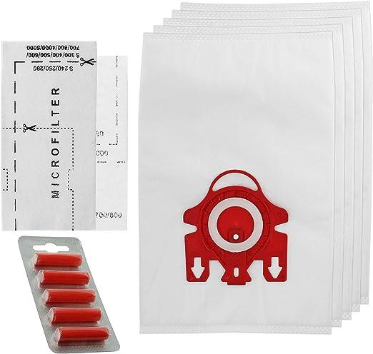Spares2go FJM Hyclean - Bolsas de repuesto tipo 3D para aspiradoras Miele (5 bolsas y micro filtros de aire): Amazon.es: Hogar