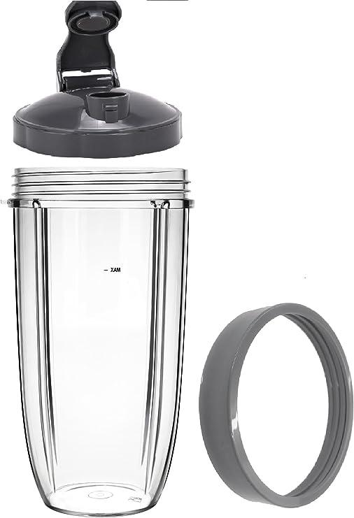 Blendin 32 oz taza grande con Flip Top – Tapa y Jar labios anillo ...