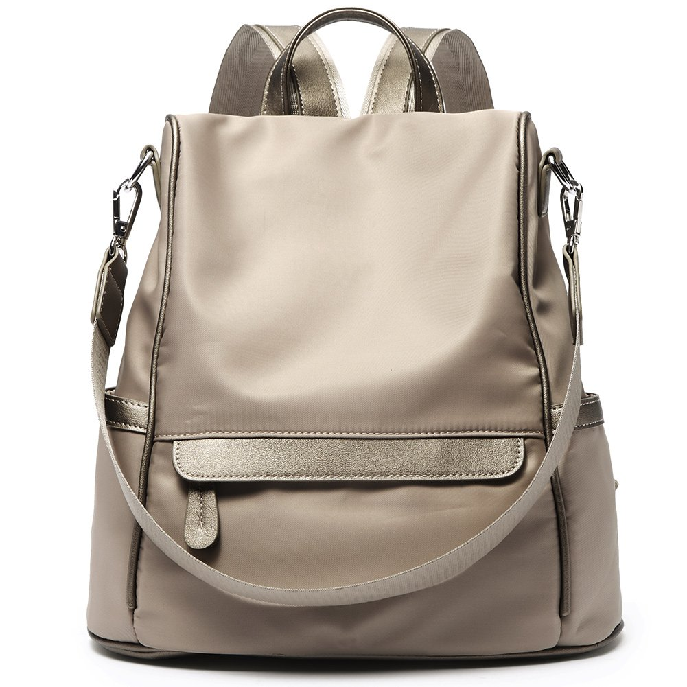 Women Backpack Purse Nylon Fashion Casual Shoulder Bag Lightweight Water Resistant School Backpack gray