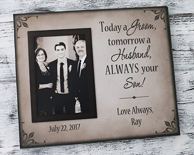 Amazon.com: Today a groom tomorrow a husband always your son forever ...