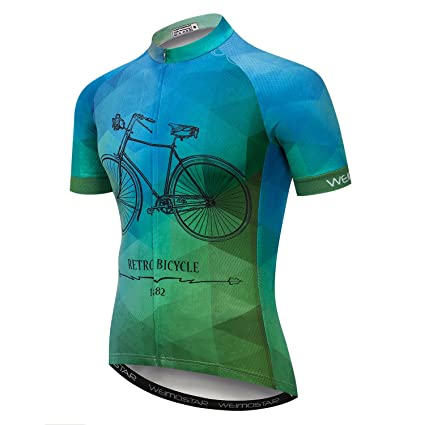 3f0b8acbc xingrass Men s Cycling Short Sleeve Jersey Comfortable Breathable Shirts  Sportswear Clothing Full Zip Bike Tops Quick
