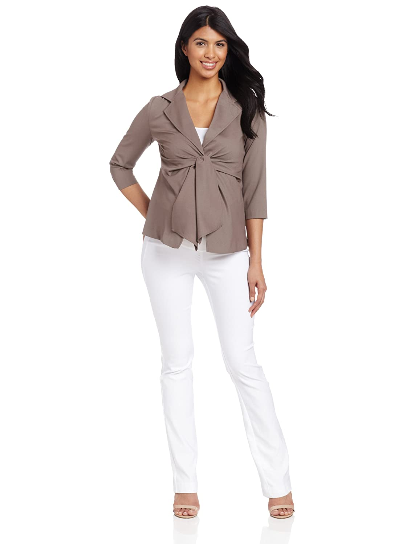 02993148518f3 Maternal America Women's Maternity Front Tie Blazer at Amazon Women's  Clothing store: Fashion Maternity Blouses